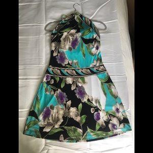 Caché Blue Floral Dress